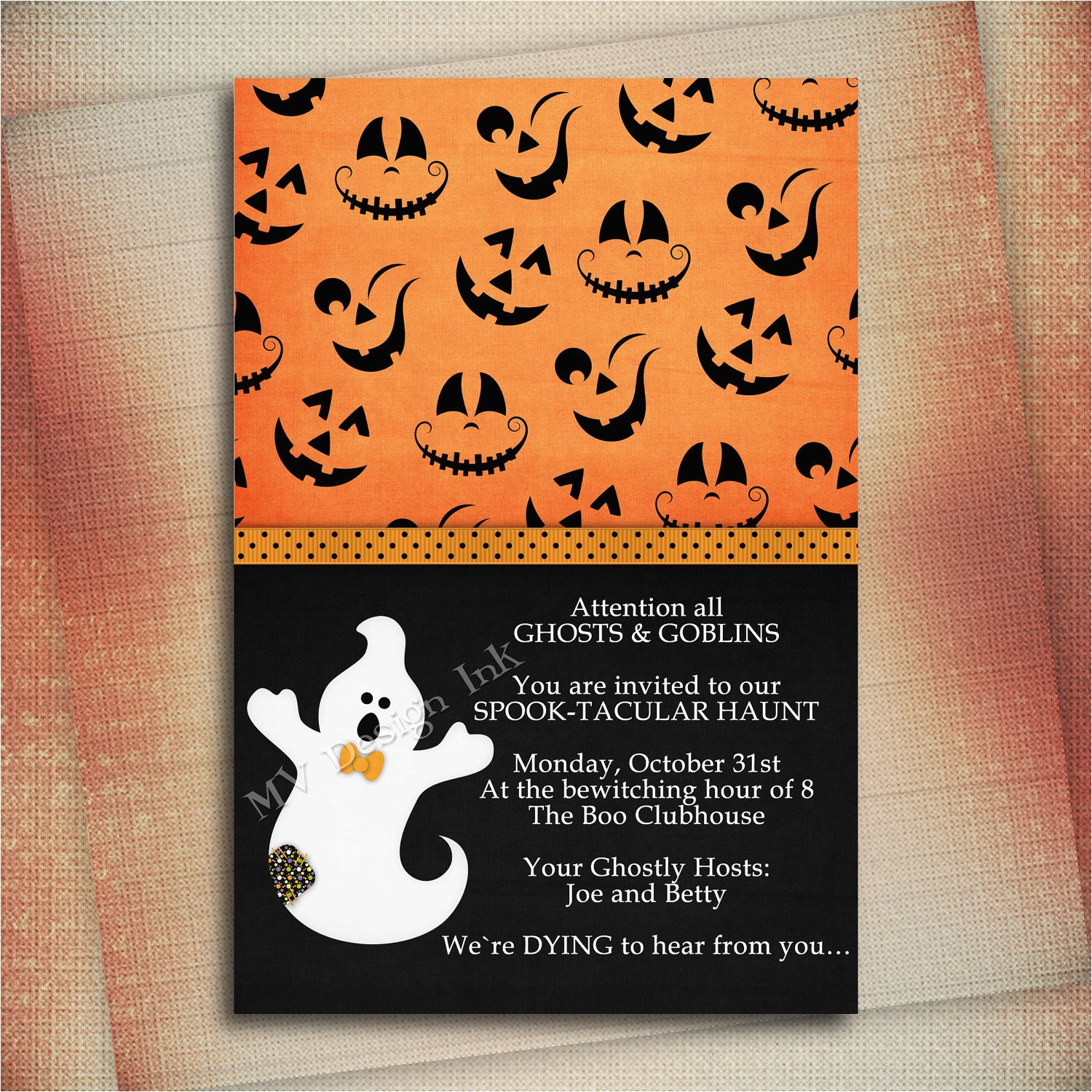 halloween birthday invitation wording