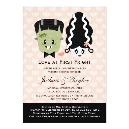 Halloween Bridal Shower Invitations Halloween Couples Wedding Shower Invitations
