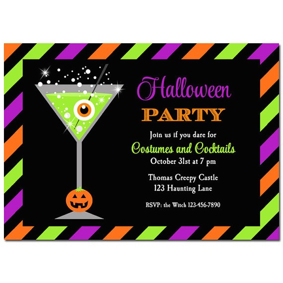 halloween cocktail party invitation printable printed