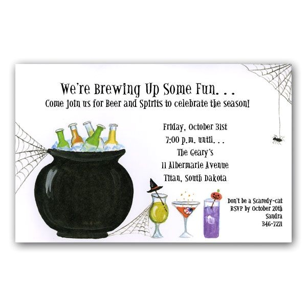 Halloween Cocktail Party Invitations p 7 6015