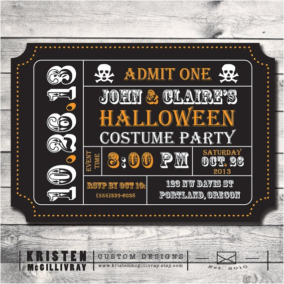 sale halloween party invitation diy