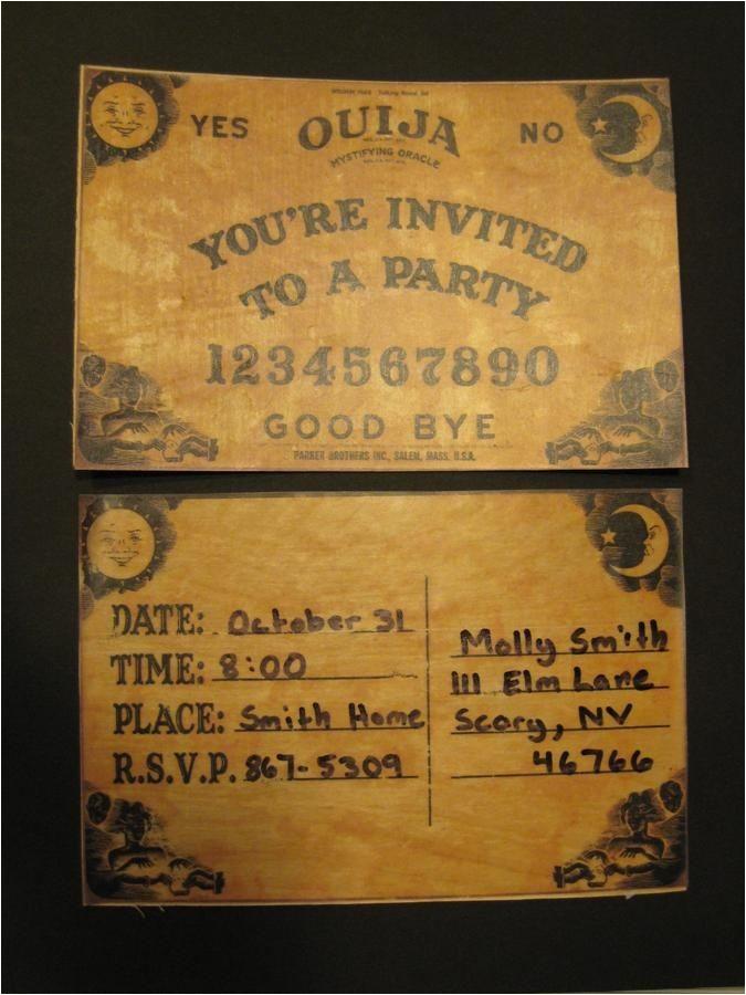 halloween invites 2017