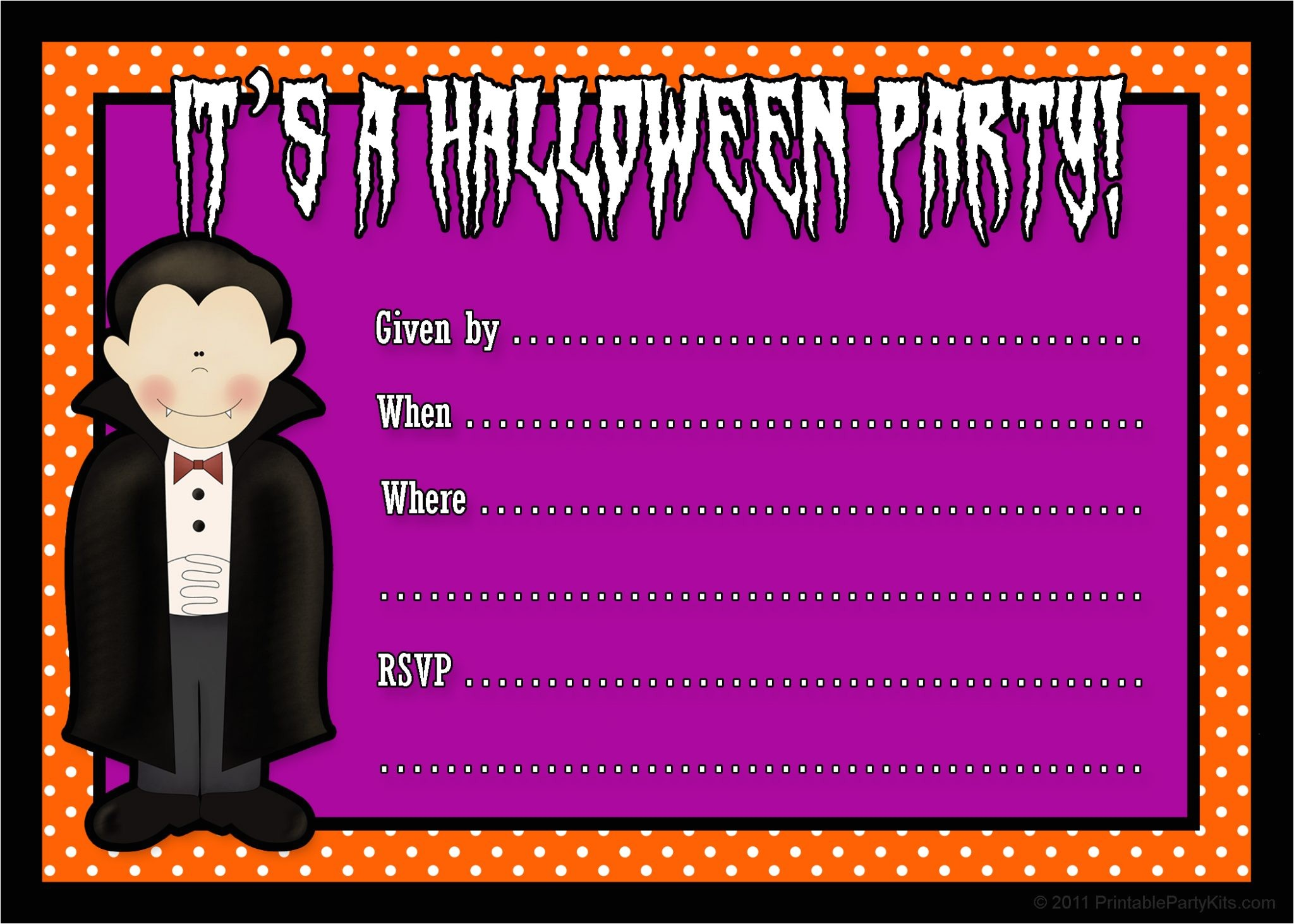 Halloween Party Invite Template Free Free Printable Halloween Party Invites
