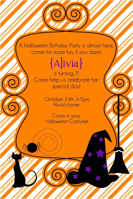 free halloween party invitation or