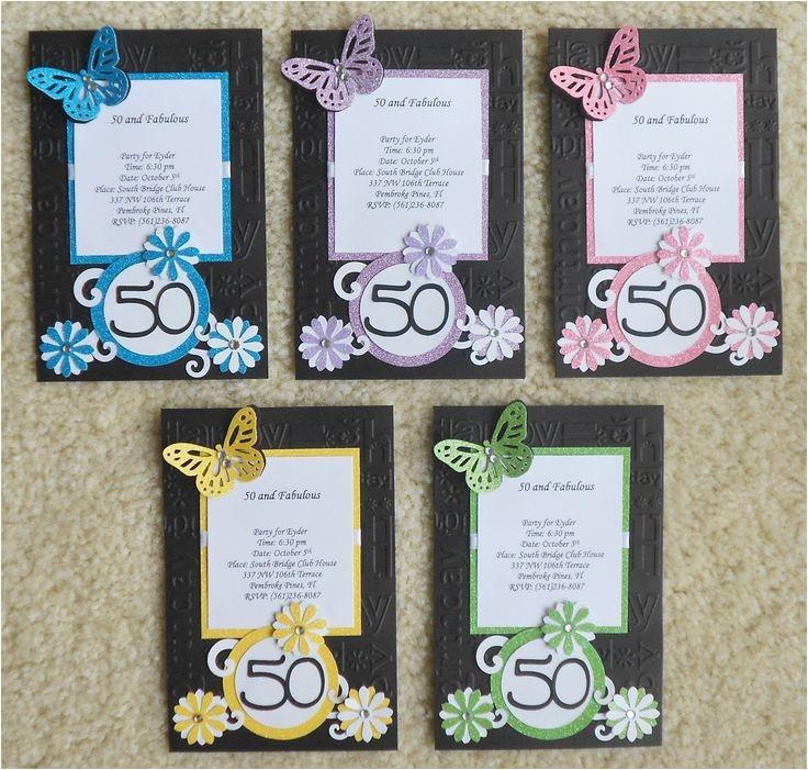 Handmade 50th Birthday Invitation Ideas Handmade Birthday Invitations Handmade Invites