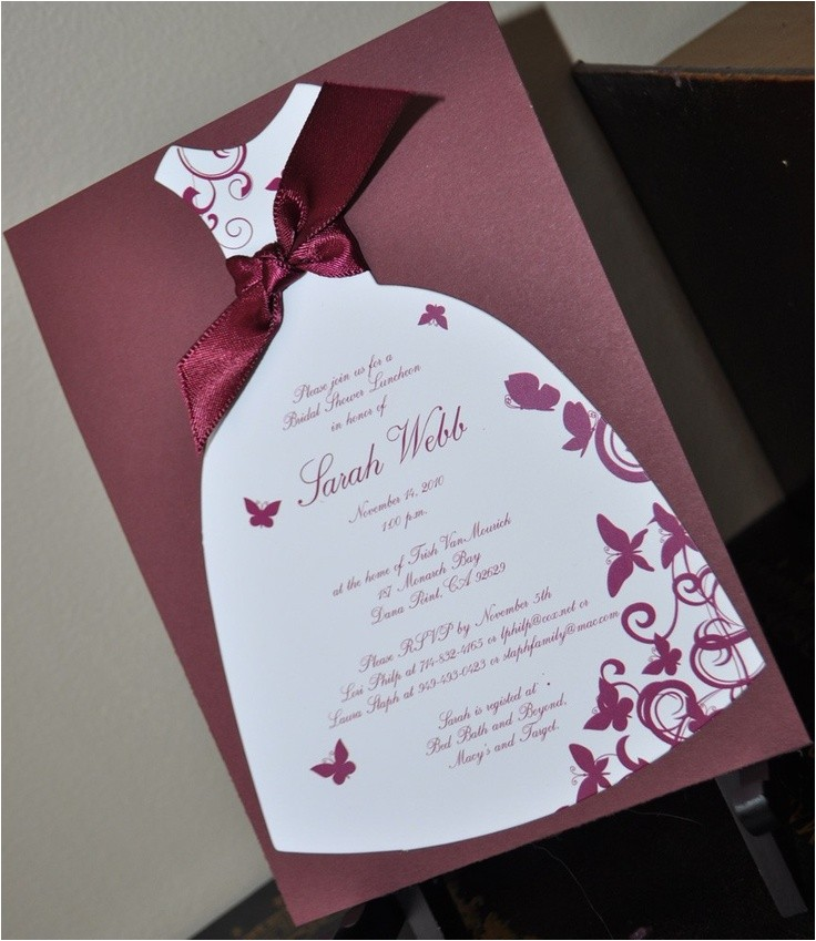 bridal shower invitations handmade