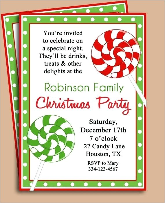 handmade christmas party invitation ideas