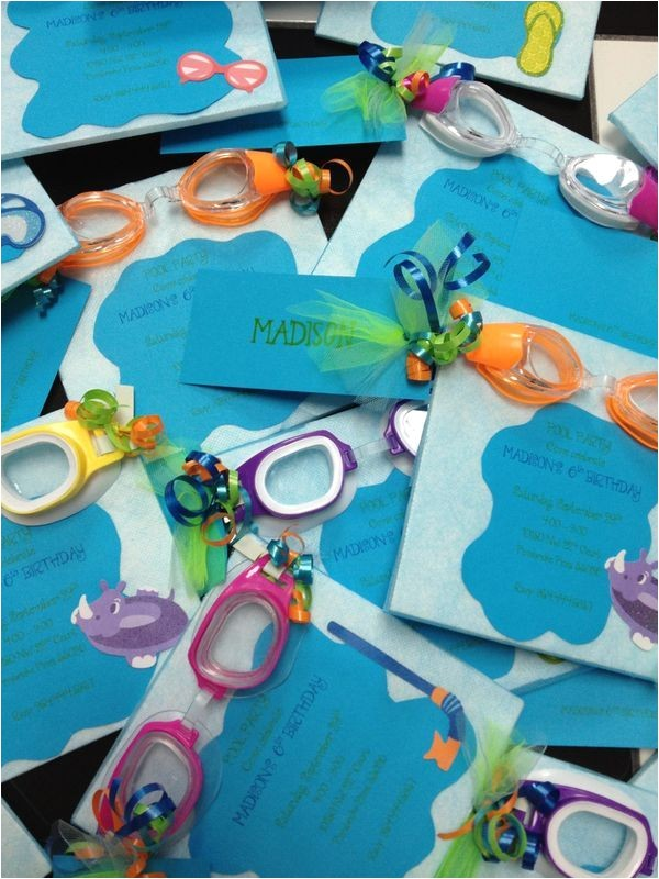swimming party favors