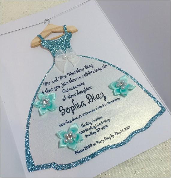 quinceanera custom party invitations