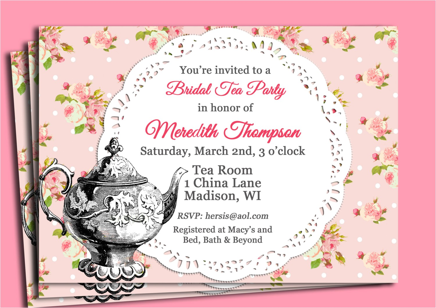 handmade tea party invitations card design tea party invitation ideas ctsfashion