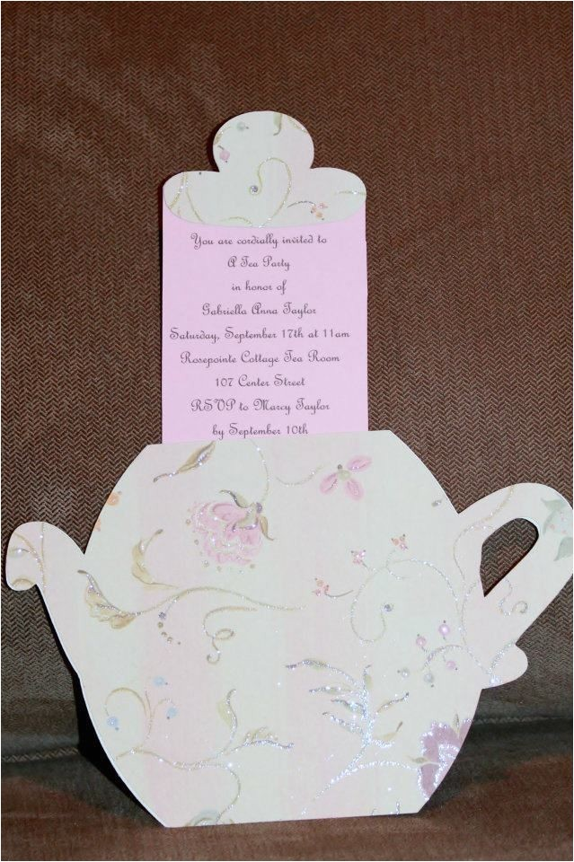 homemade tea party invitation ideas