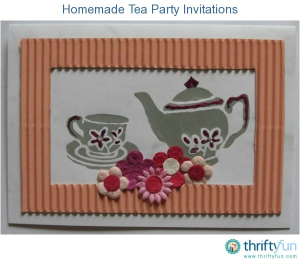 homemade tea party invitations