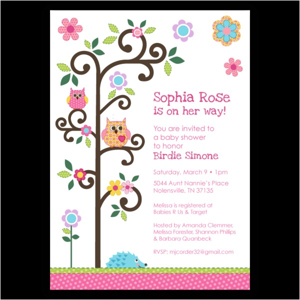 dena happi tree baby shower invitations