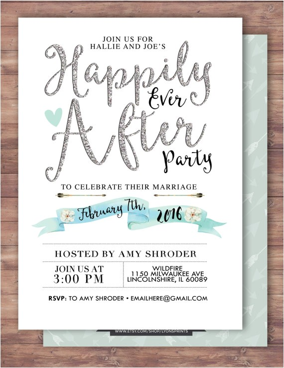 happily ever after invitation boho
