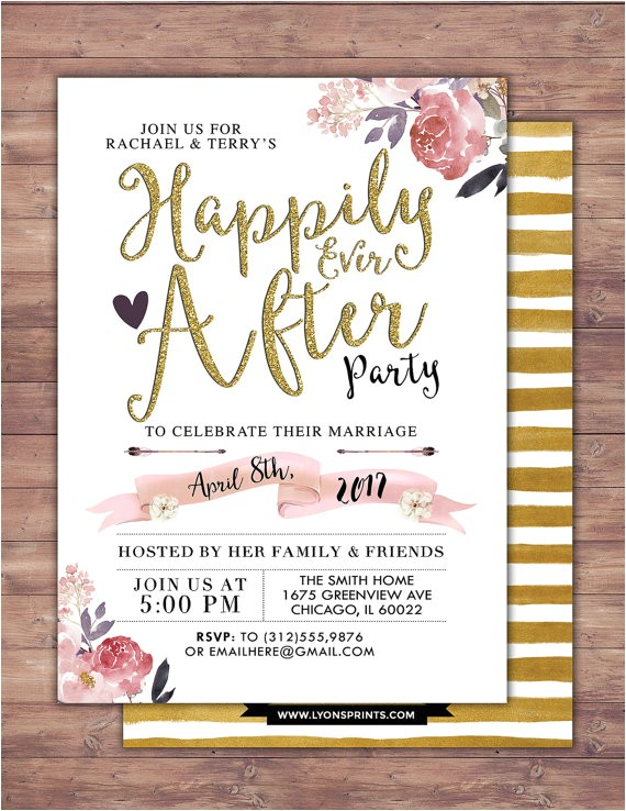 happily invitation boho wedding shower invitation 7