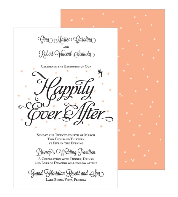 happily ever after wedding invitations by barbara jane va