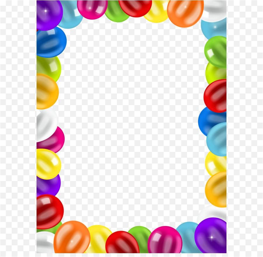 png balloons border frame png clip art image