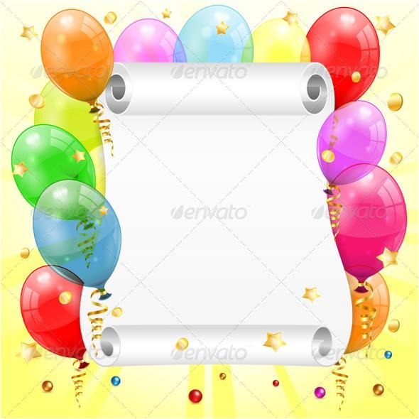 birthday party flyer frame