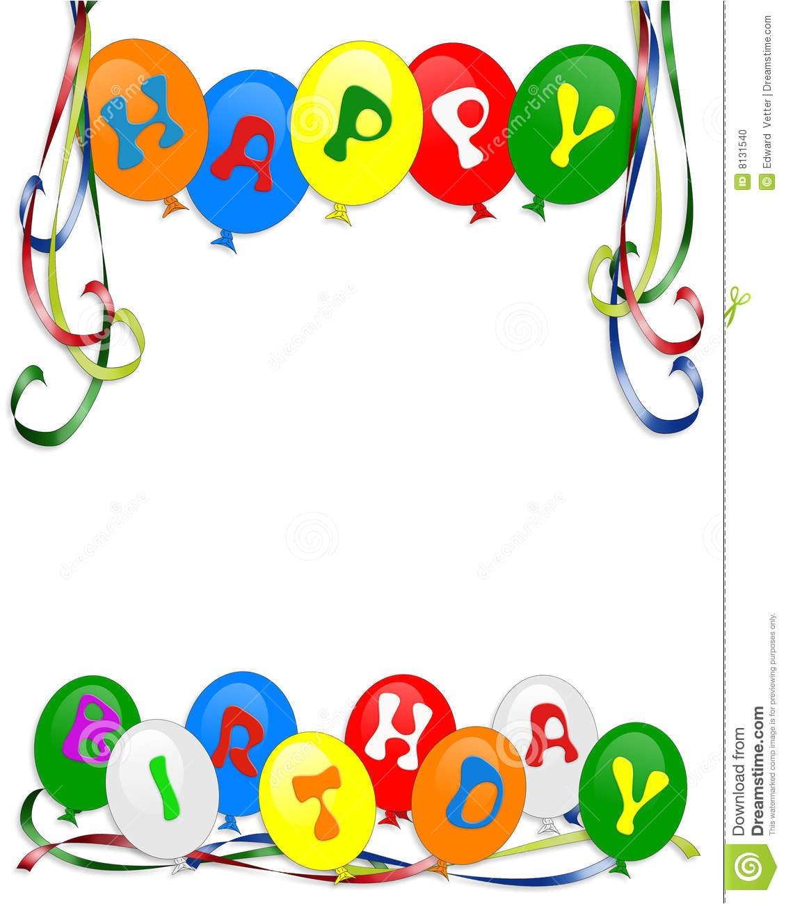 stock photo happy birthday balloons invitation image