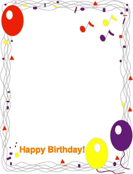 clipart happy birthday border