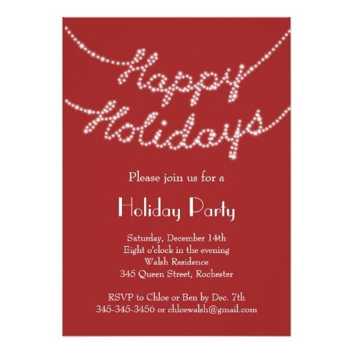happy holidays in twinkle lights party invitation 161105260793539161