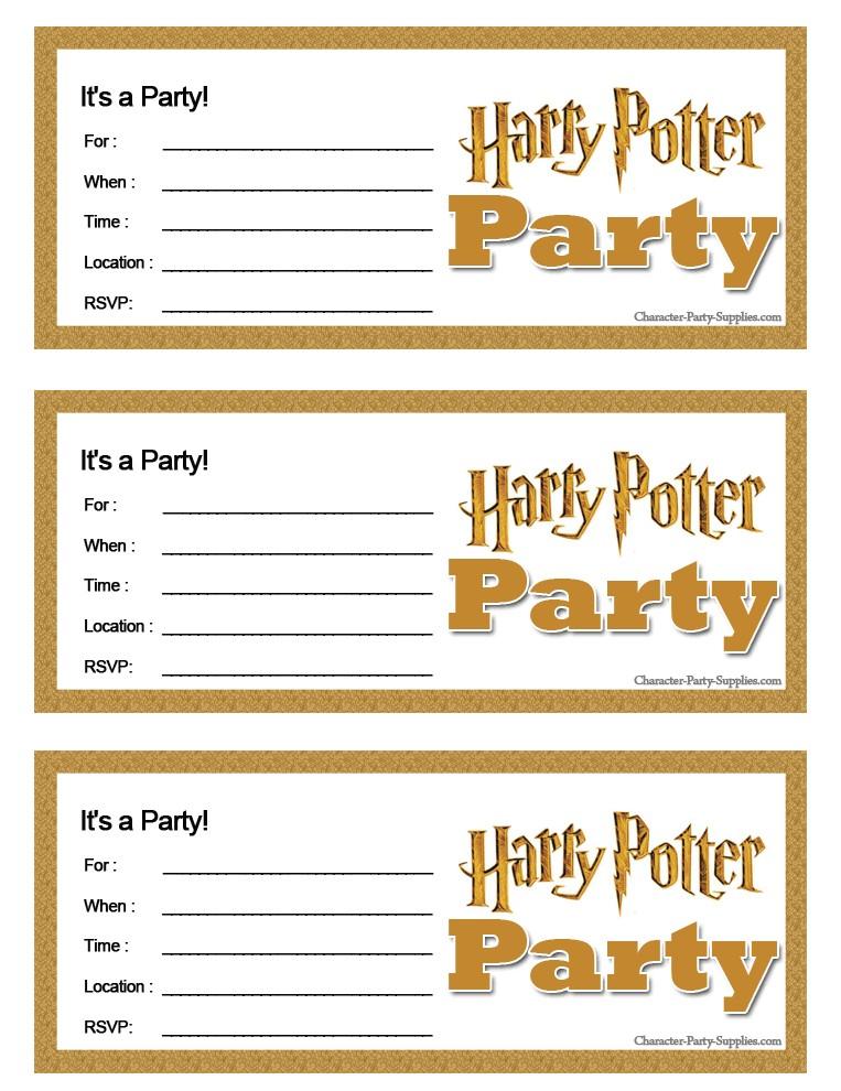 post harry potter invitation printables free 307303