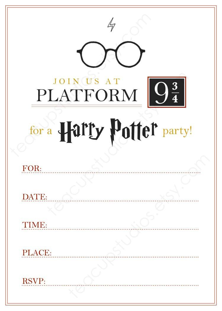 Harry Potter Birthday Invitations Printable Free Printable Harry Potter Invitation Pdf