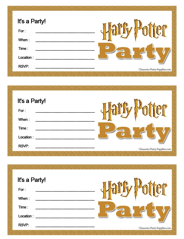 post harry potter invitation printables free