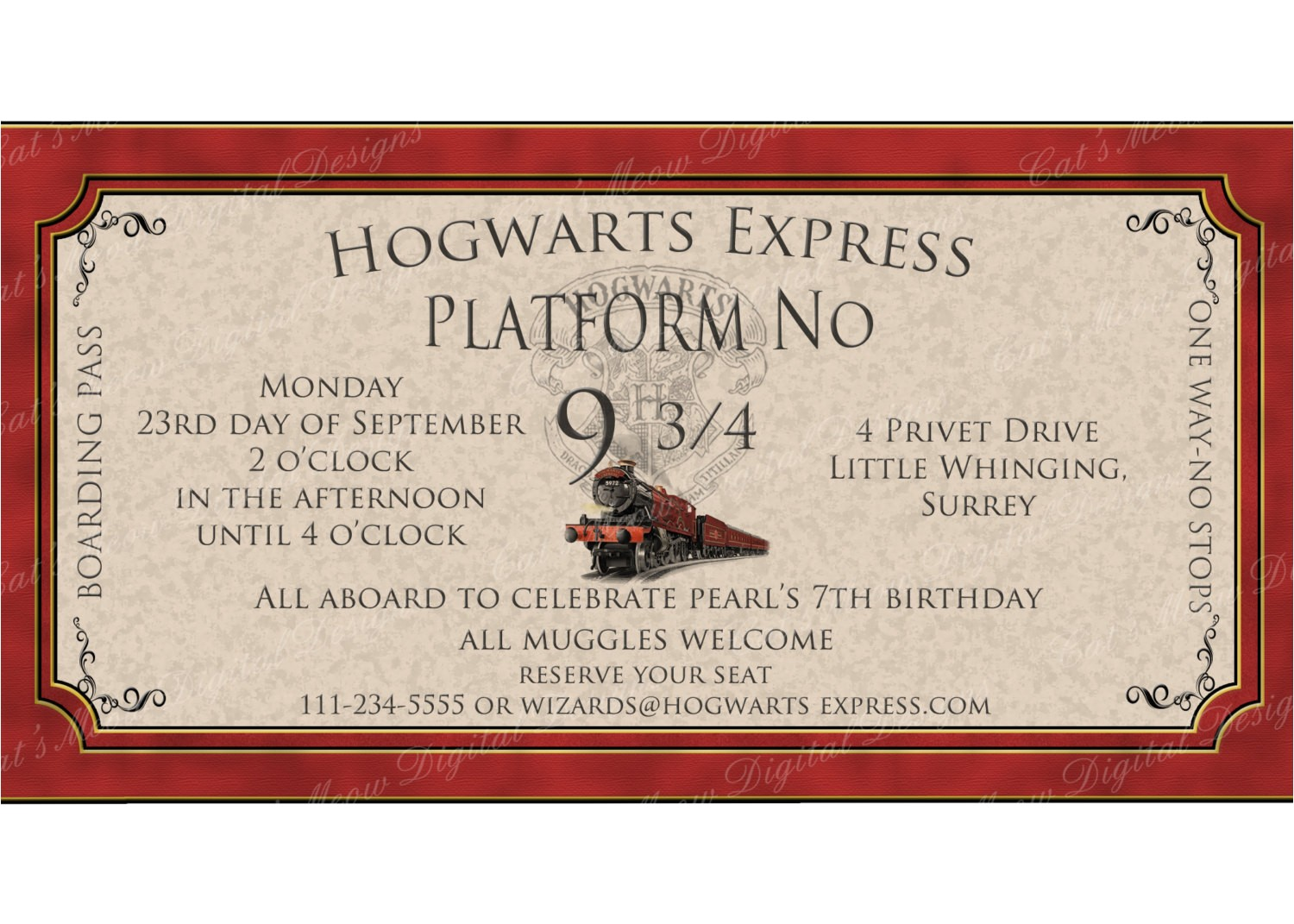 hogwarts harry potter printable