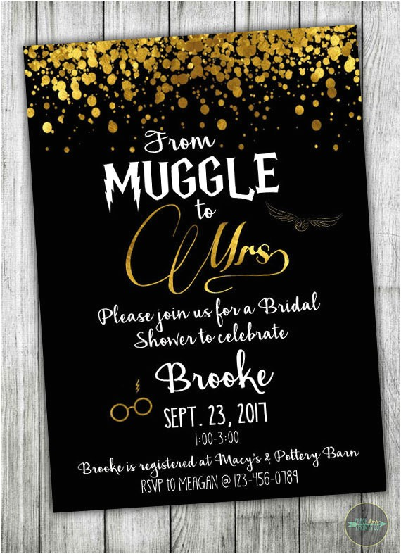 custom harry potter bridal shower