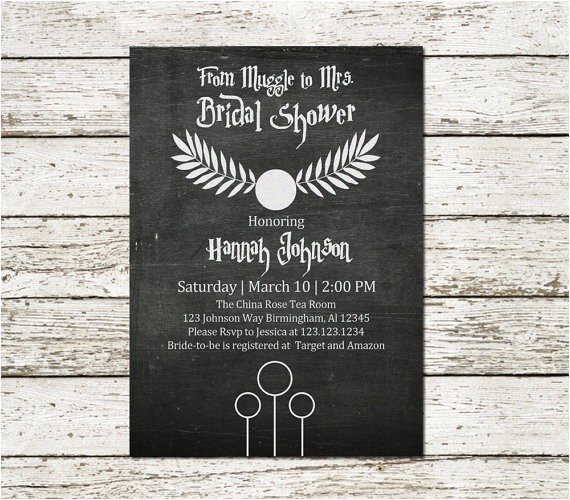 harry potter inspired bridal shower