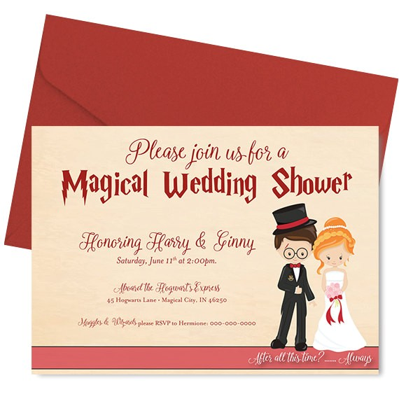 harry potter wedding shower invitation