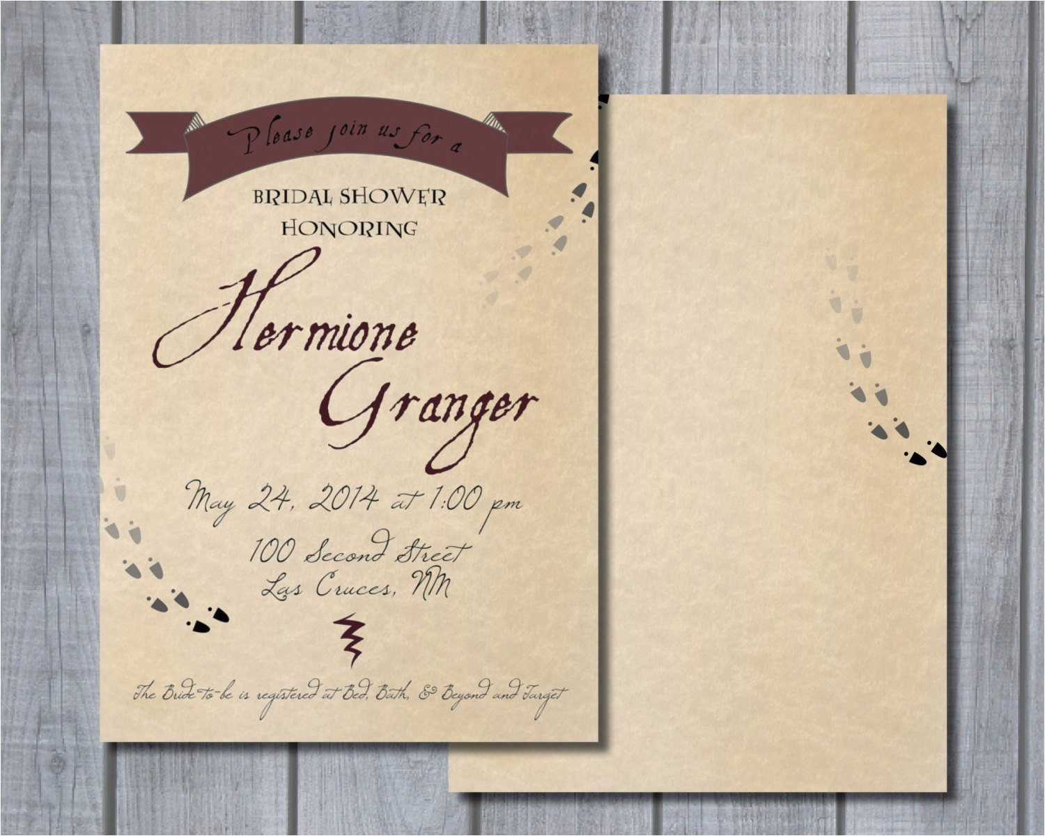 printable harry potter themed bridal