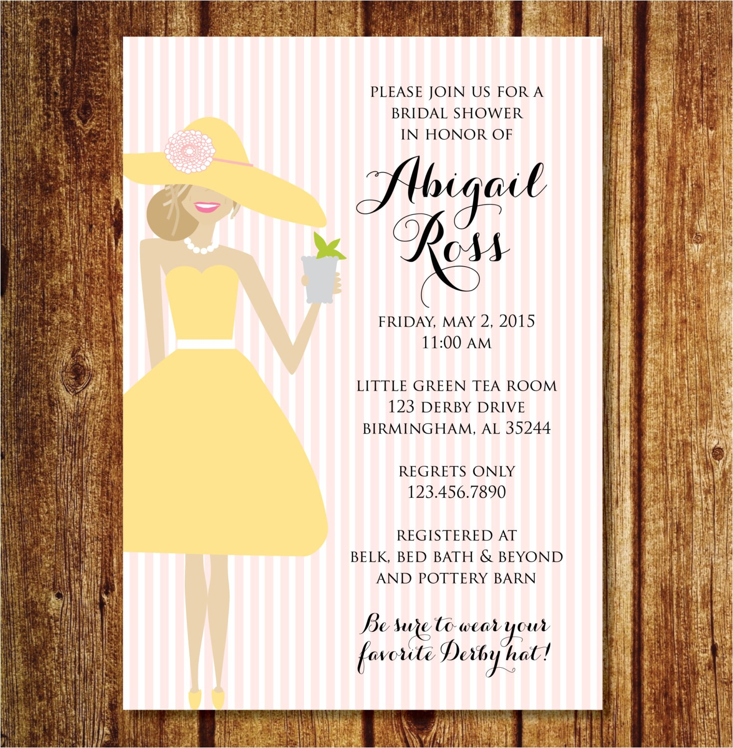 derby bridal shower invitation ref shop home active 9