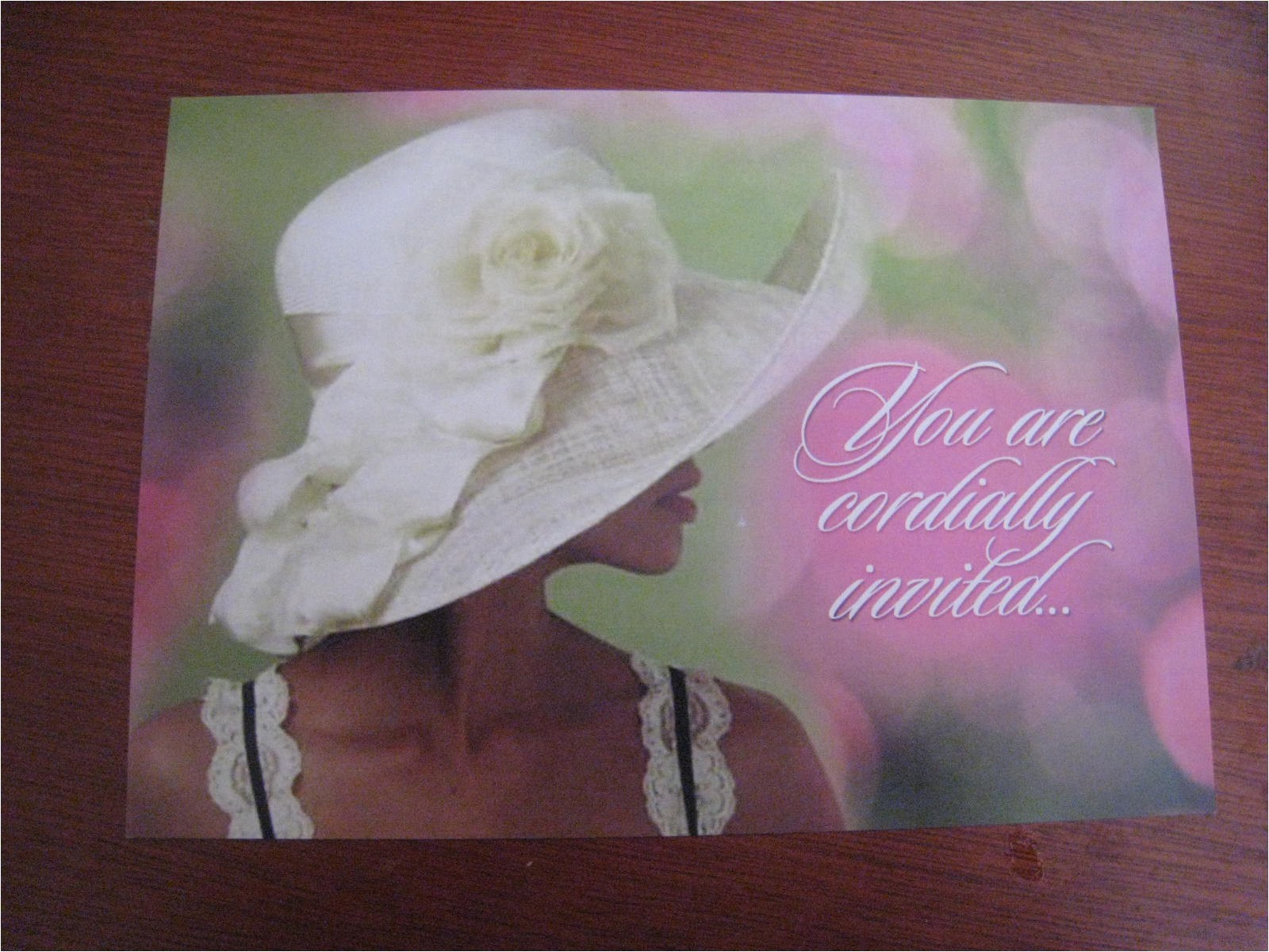bridal shower invitations hat theme