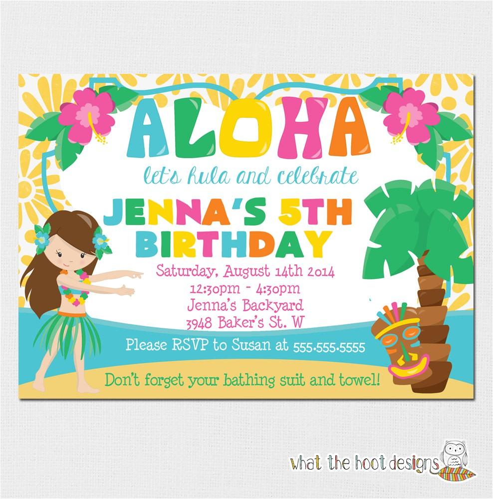 luau invitation luau birthday party luau