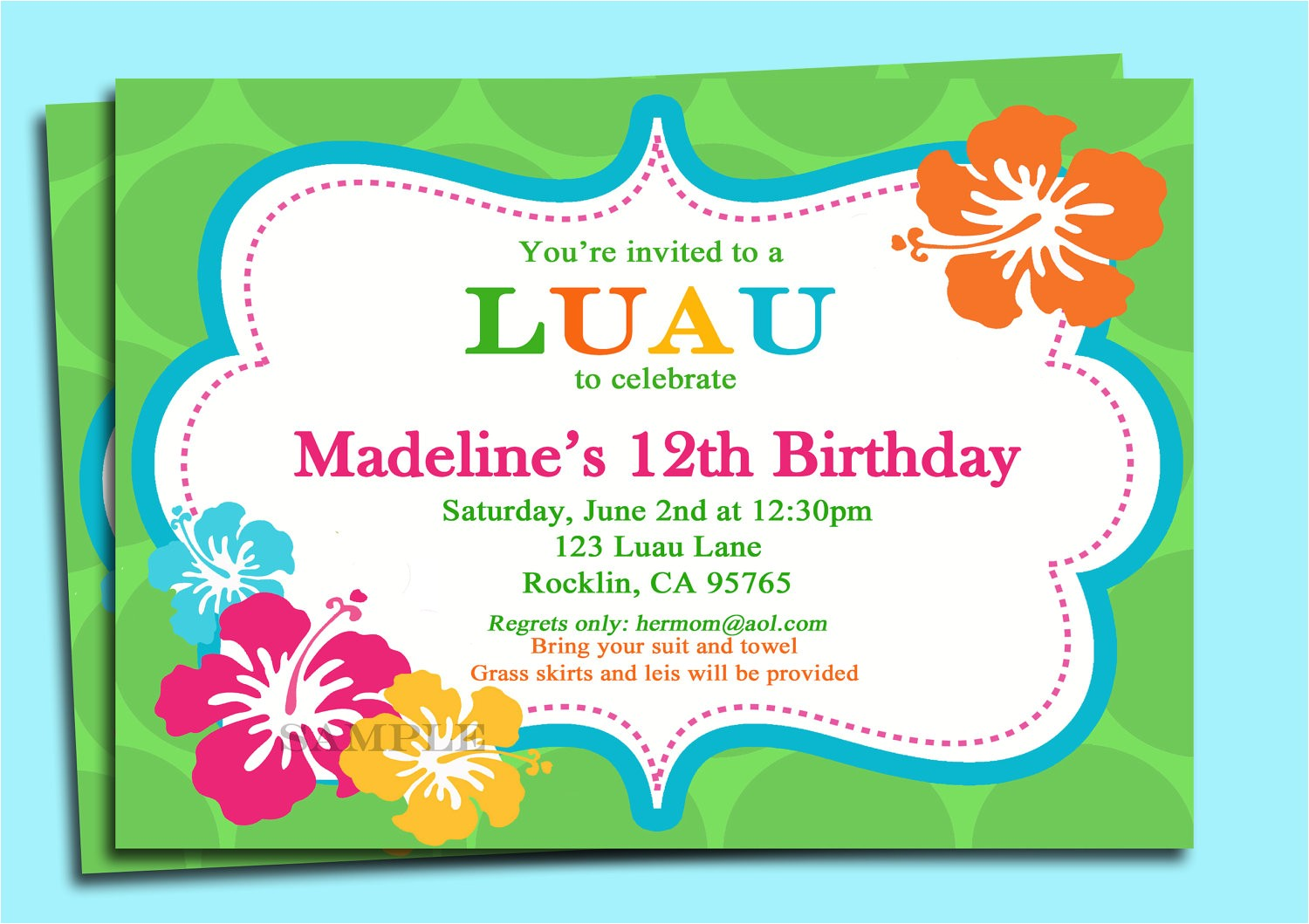 post free printable luau invitations 348079