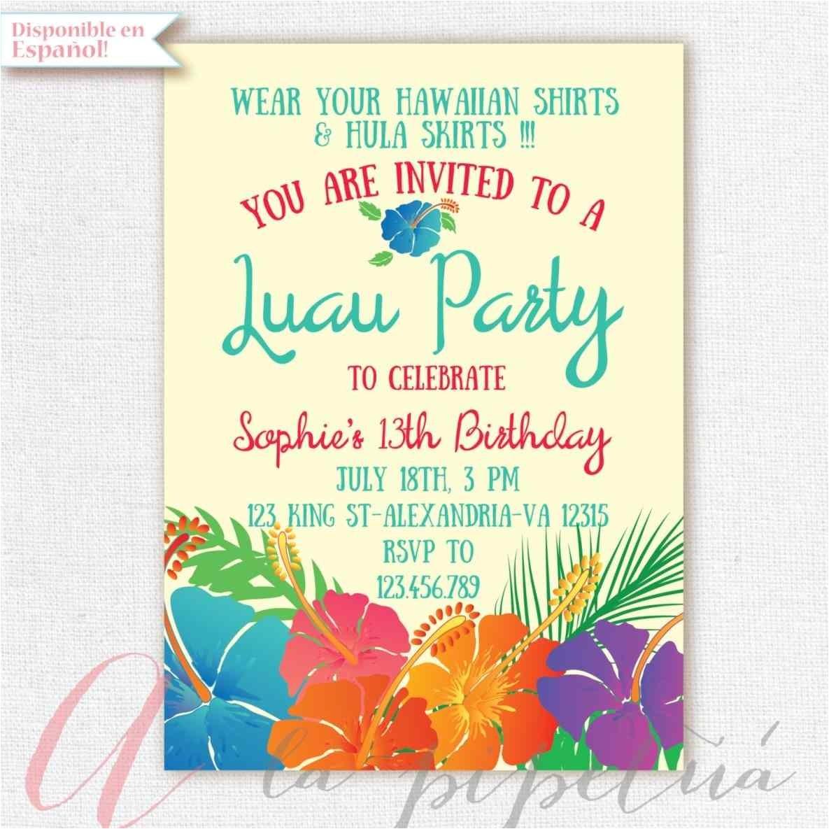 invitations templates birthday businnes card invitation pool birthday blank luau party invitations invitation