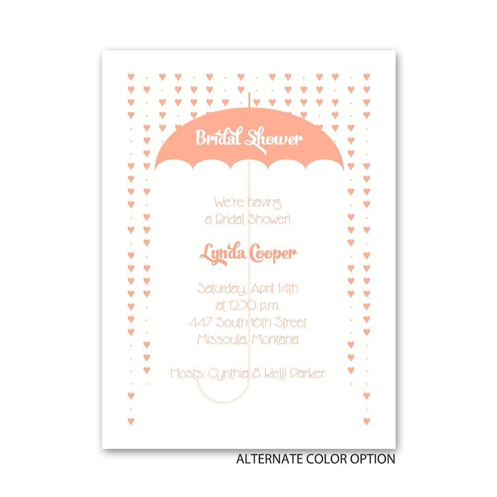 heart shower petite bridal shower invitation