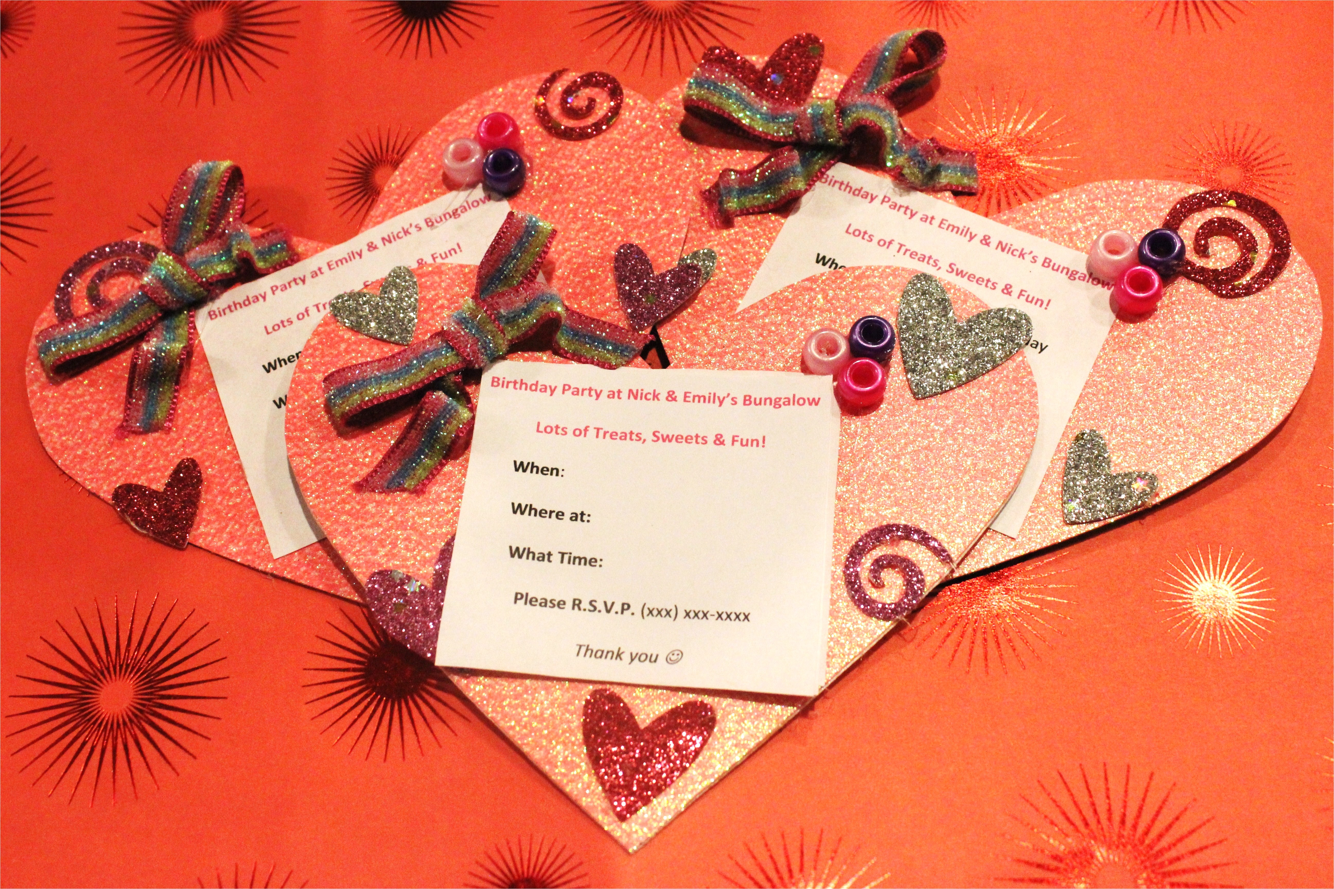 diy heart shaped invitations