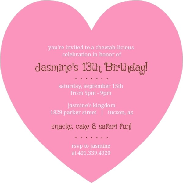 pink and brown cheetah safari birthday invitation