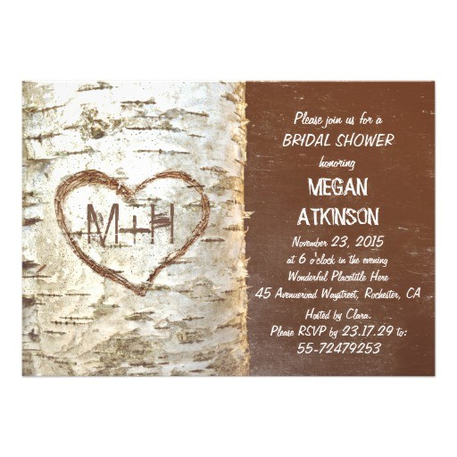 bridal shower invitations hearts
