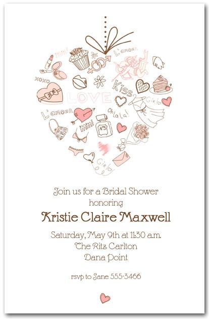 love heart bridal shower