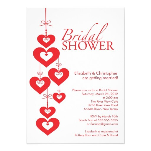 modern love hearts bridal shower invitation 161033616157472244