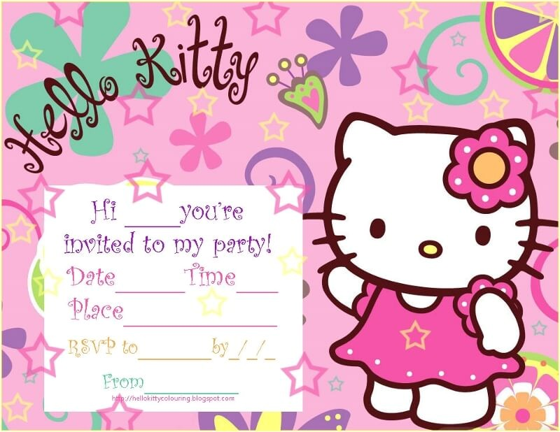 hello kitty baby shower invitations and decorations templates