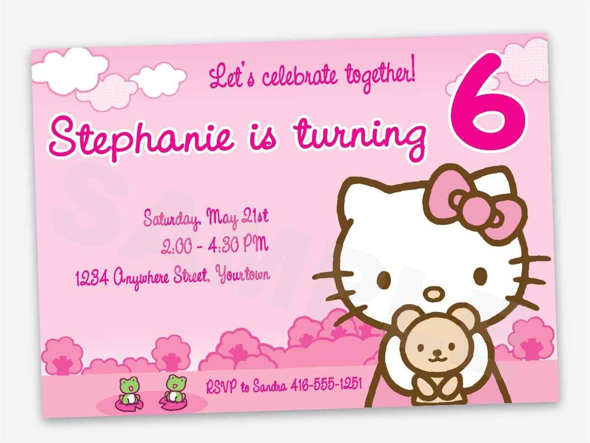 hello kitty first birthday invitations