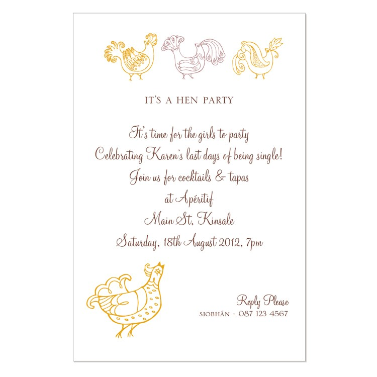 perfect hens party invitation wording 10 for rustic article