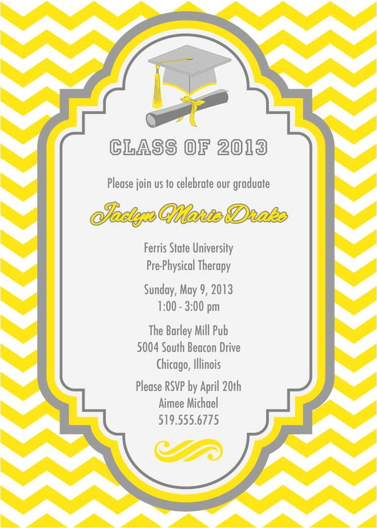 best graduation party invite ideas cards printable