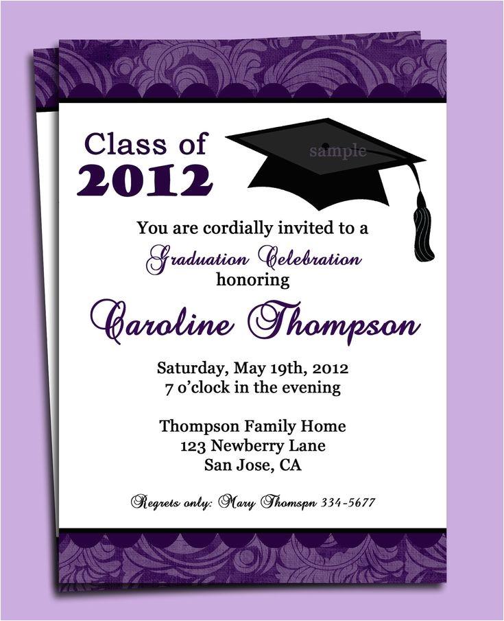 graduation invitation wording