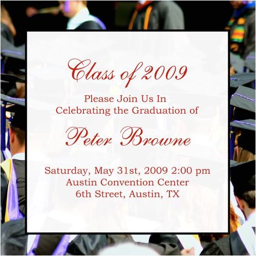 graduation announcement sample wording